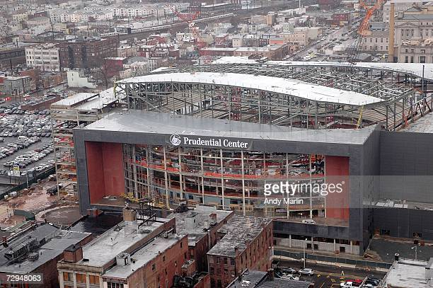 Banner is unveiled on the new home of the New Jersey Devils, the Prudential Center, January 8, 2007 in Newark, New Jersey.