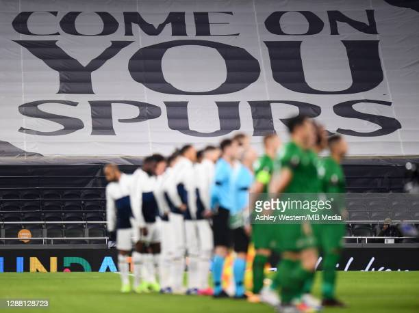 A banner on display as players line up before the UEFA Europa League Group J stage match between Tottenham Hotspur and PFC Ludogorets Razgrad at...