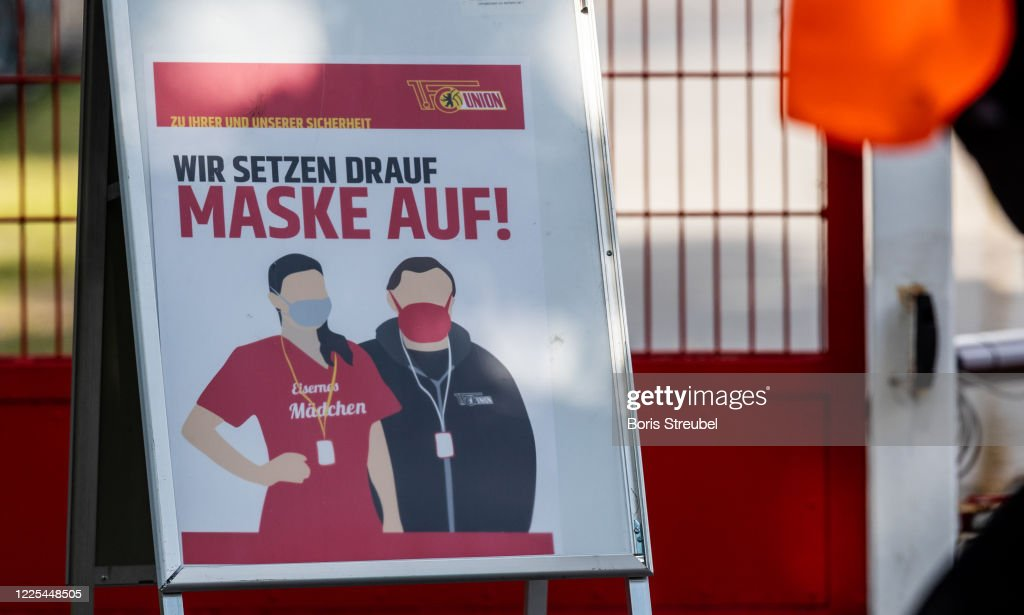 Bundesliga Resumes Season After Nationwide Lockdown Due To The Ongoing Coronavirus Crisis : News Photo