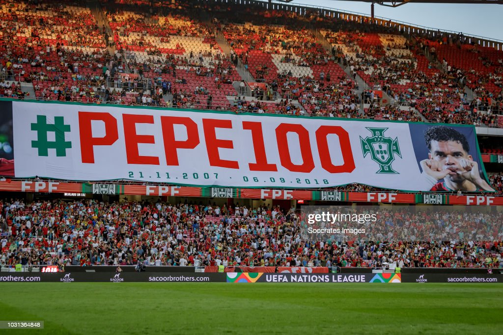 Banner Pepe Of Portugal During The Uefa Nations League Match Between News Photo Getty Images
