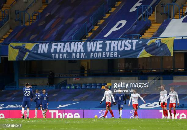 Banner saying ' in Frank we trust' during The Emirates FA Cup Fourth Round match between Chelsea and Luton Town at Stamford Bridge on January 24,...