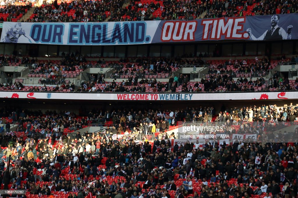 A Banner Saying Our England Our Time During The Uefa Nations League A News Photo Getty Images