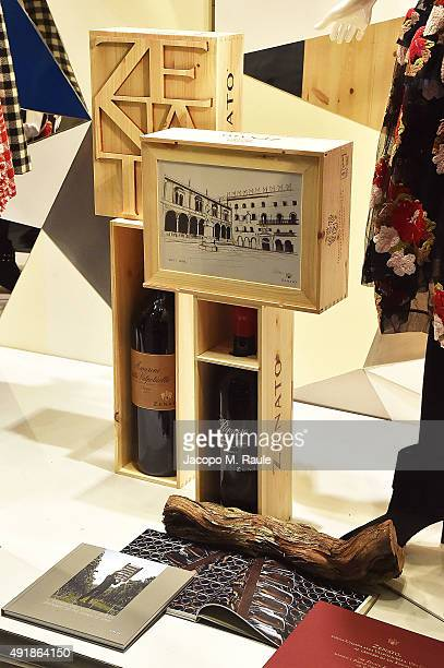 Banner Shop Window during 'La Vendemmia 2015' The World's Finest Wine Lifestyle Experience on October 8 2015 in Milan Italy