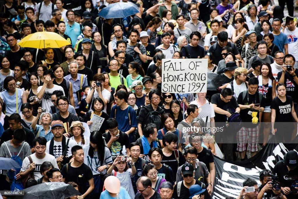 HONG KONG-CHINA-BRITAIN-POLITICS-PROTEST-XI : Foto di attualità