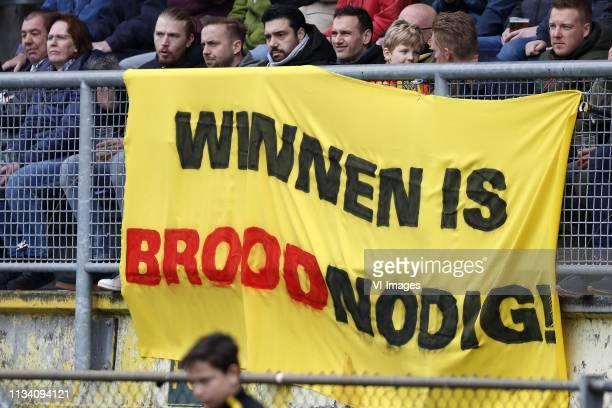 Banner Winnen is Brood nodig during the Dutch Eredivisie match between NAC Breda and VVV Venlo at the Rat Verlegh stadium on March 31, 2019 in Breda,...