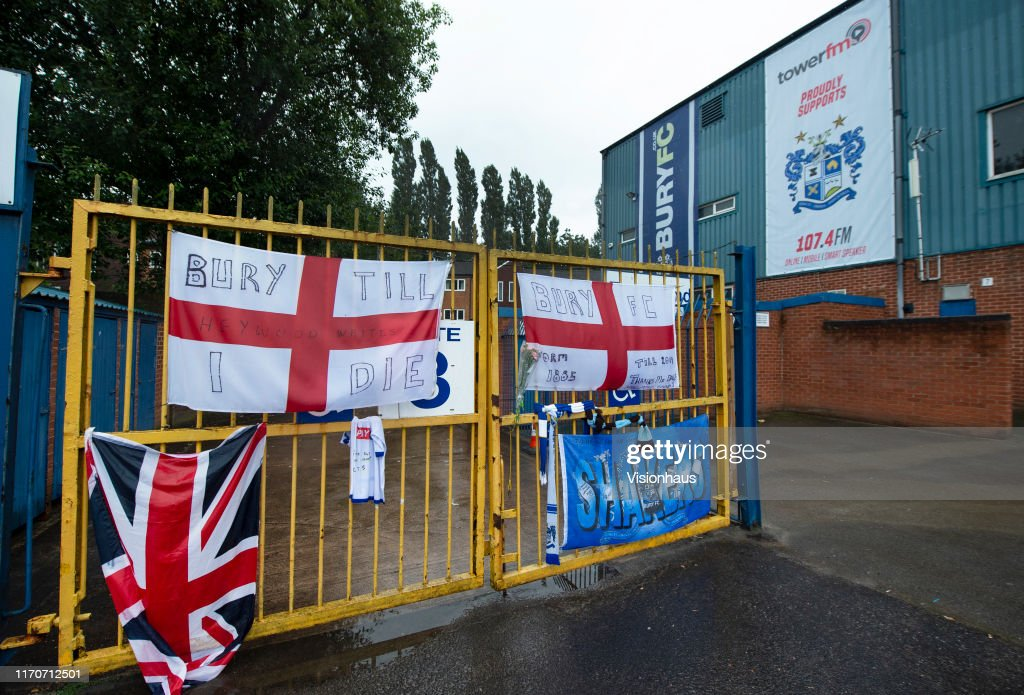 Bury Football Club Expelled From The English Football League After 125 Years : News Photo