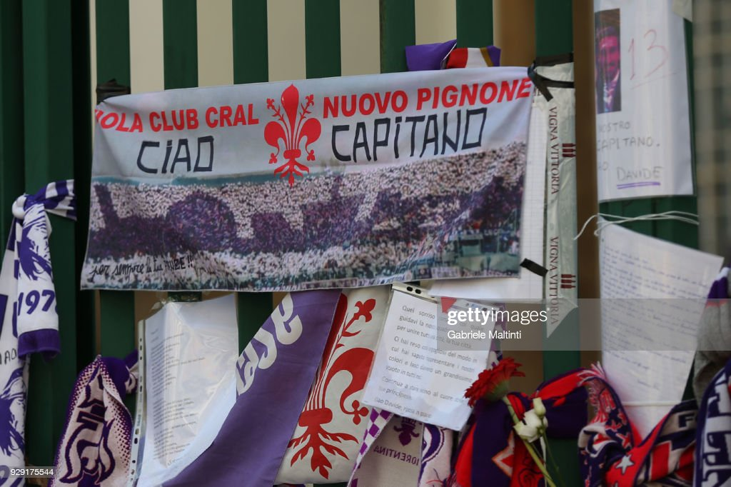 Davide Astori Funeral Service In Florence : News Photo