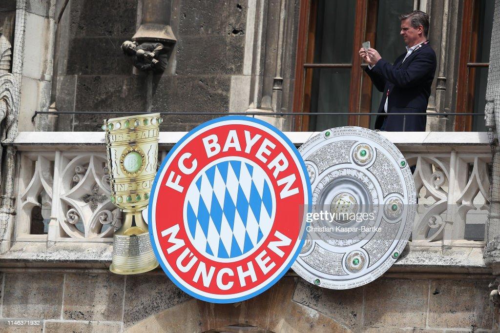 DEU: FC Bayern Muenchen Celebrate Winning The Bundesliga