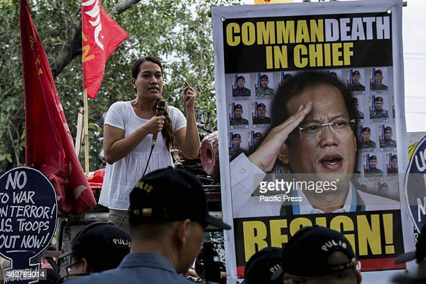 MANILA PHILIPPINES MANILA PHILIPPINES Banners calling for President Aquino's resignation and accountability for the deaths of SAF commandos in...