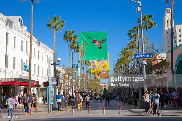 Banners on pedestrian street, Sta. Monica