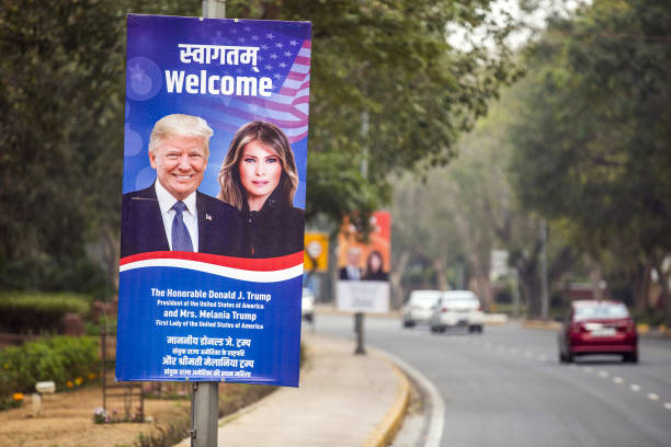 IND: The Indian Capital Prepares For And Protests Against President Trump's Visit