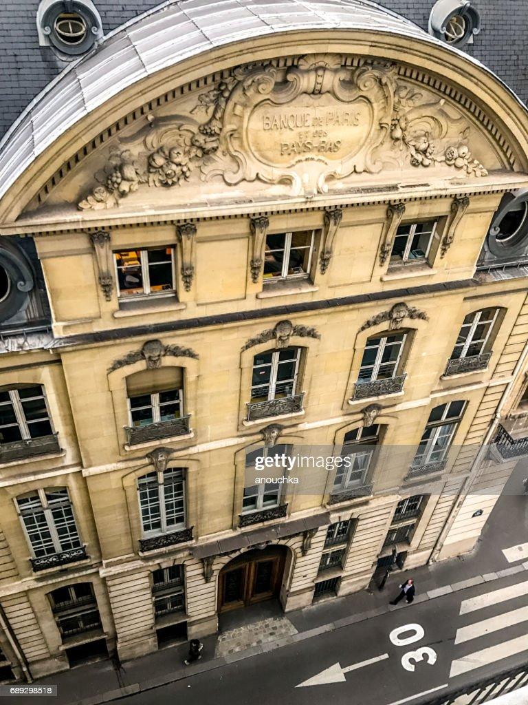 Banque de Paris et des Pays-Bas building from above, France : Stock Photo