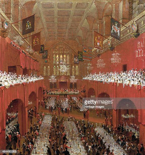 Banquet at the Guildhall City of London 1814 'Banquet at Guildhall to the Prince Regent the Czar of Russia and the King of Prussia June 18 1814'...