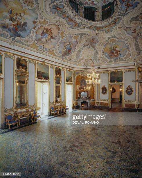 Banquet hall Biscari palace Catania Sicily Italy 18th century