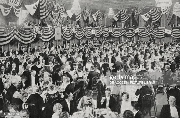 Banquet held by the ItalianAmerican society for the Italian ambassador Gelasio Caetani at the Plaza Hotel in New York United States of America...