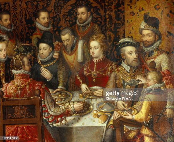 Banquet of monarchs of the house of Austria Sanchez Coello Poland Museum Narodowo Spain