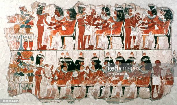 Banquet Scene 1350 BC Fragment of wall painting from the tomb of Nebamun British Museum