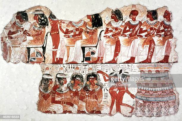 Banquet Scene Wall Painting Tomb of Nebamun Thebes 18th Dynasty A sensual celebration of new life British Museum London