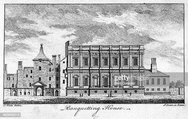 Banqueting House, Whitehall Palace, Westminster, London. Exterior view of the Banqueting House, designed by Inigo Jones for James I and completed in...