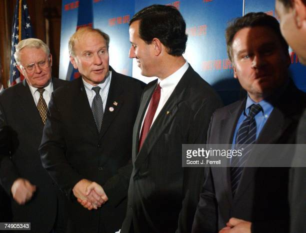 'PARTIALBIRTH' ABORTION BANRep Joe Pitts RPa Rep Steve Chabot ROhio Sen Rick Santorum RPa and Rep Christopher H Smith RNJ congratulate each other...