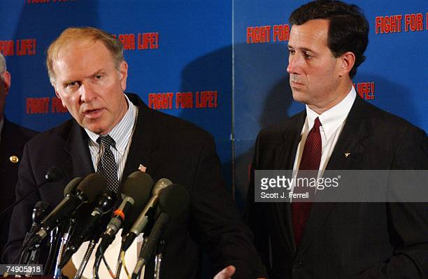 'PARTIALBIRTH' ABORTION BANRep Steve Chabot ROhio and Sen Rick Santorum RPa during a news conference after the Senate passed legislation that would...
