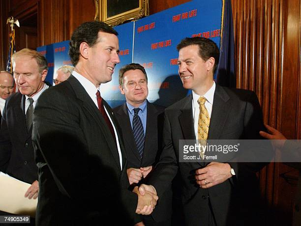 'PARTIALBIRTH' ABORTION BANRep Steve Chabot ROhio Sen Rick Santorum RPa Rep Christopher H Smith RNJ and Sen Sam Brownback RKan congratulate each...