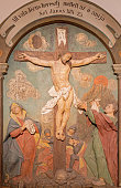 Banska Stiavnica - The carved relief of Crucifixion