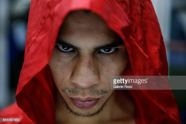 Bantamweight boxer Alberto Melian of Argentina during an exclusive portrait session at CeNARD on June 30, 2016 in Buenos Aires, Argentina.