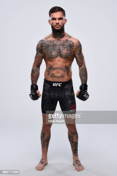 Bantamweight Champion Cody Garbrandt poses for a portrait during a UFC photo session on October 31 2017 in New York City