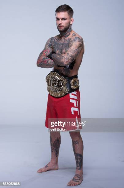 UFC bantamweight champion Cody Garbrandt poses for a portrait during the filming of The Ultimate Fighter Redemption at the UFC TUF Gym on January 25...