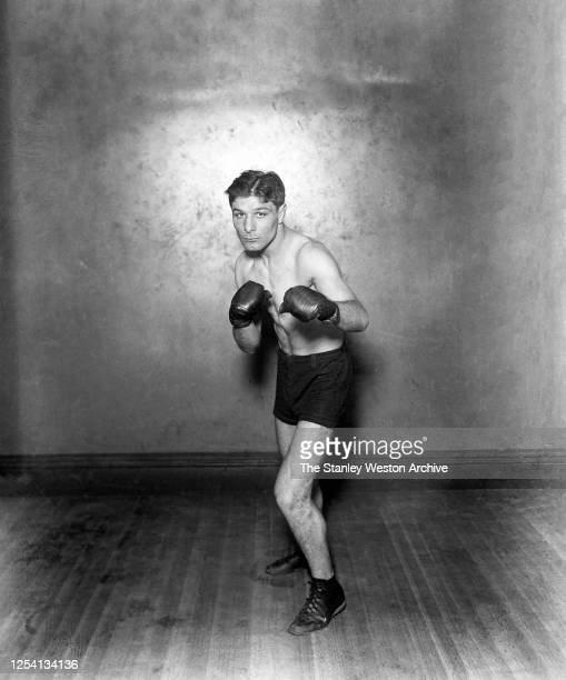 Bantamweight professional boxer Charley Phil Rosenberg of the United States poses for a portrait after winning the Bantamweight title on March 21,...