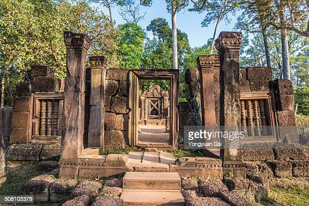 CONTENT] Banteay Srei is a 10thcentury Cambodian temple dedicated to the Hindu god Shiva located in the area of Angkor in Cambodia Banteay Srei is...