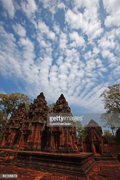 Banteay Srei or Srey, the temple with the most delicated and preserved stonecarvings in the Angkor Archeological Park in Siem Reap on December 25...