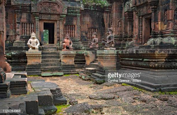 banteay srei - banteay srei stock pictures, royalty-free photos & images