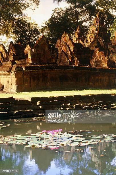 banteay srei temple, angkor wat temple, cambodia, asia - banteay srei stockfoto's en -beelden