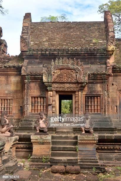 Banteay Srei Temple, Anthropomorphic Monkey Statues, Cambodia