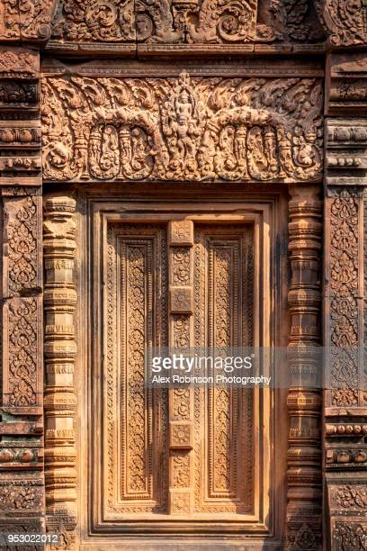 Banteay Srei temple at Angkor in Cambodia