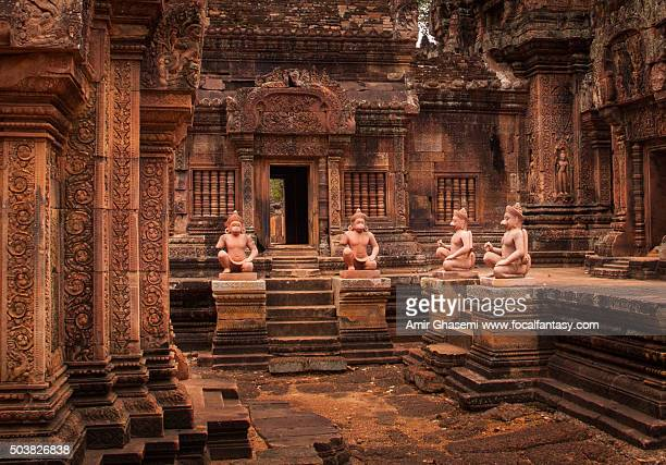 banteay srei temple - banteay srei stock pictures, royalty-free photos & images