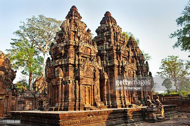 banteay srei,  temple, siem reap - banteay srei stock pictures, royalty-free photos & images