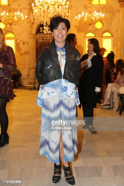 Banu Bolen attends the Asli Filinta show during MercedesBenz Fashion Week Istanbul March 2019 at Zorlu Center on March 20 2019 in Istanbul Turkey