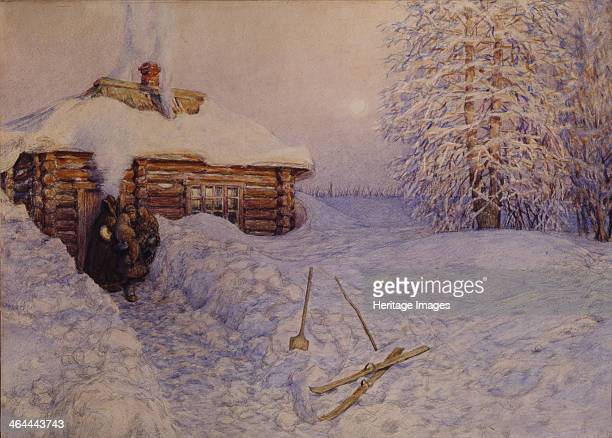 Banya in Winter 1919 Found in the collection of the V Vasnetsov Memorial Museum Moscow