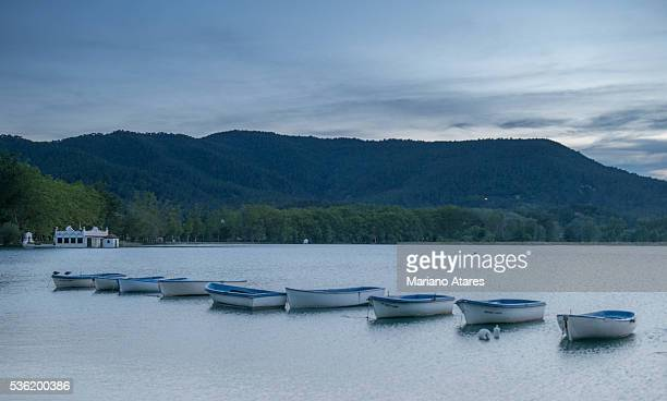 banyolas lake - banyoles stock pictures, royalty-free photos & images