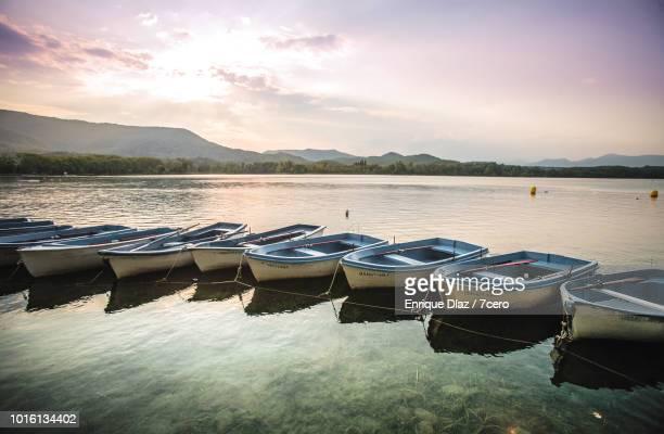 Banyoles Rowboats at Dusk