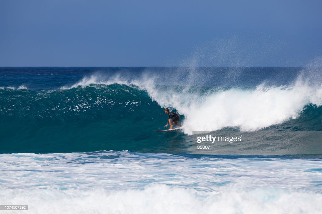 banzai pipeline, north shore, oahu island, hawaii : Stock Photo