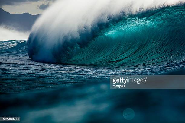 banzai pipeline wave, hawaii, america, usa - banzai pipeline stock photos and pictures