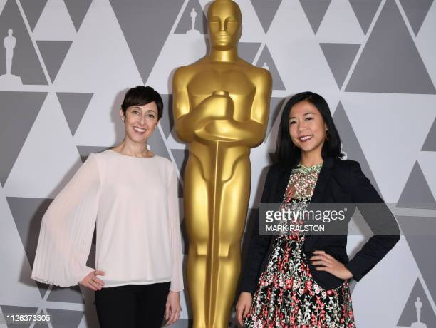 Bao producer Becky NeimanCobb and director Domee Shi attend the 91st Annual Academy Awards Oscar Week reception for nominated films in the Animated...