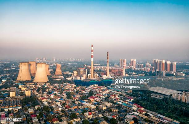 baoding thermal power station - hebei province stock pictures, royalty-free photos & images