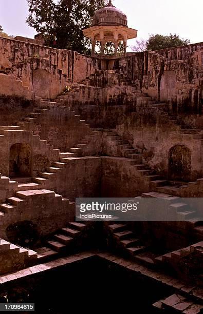 Baoli stepwell Amer Jaipur Rajasthan India