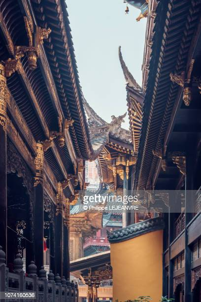 baolunsi buddhist temple in chongqing - chongqing stock photos and pictures