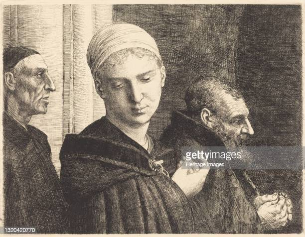 Baptism . Artist Alphonse Legros.
